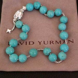 DY Sterling Silver  Beaded Bracelet